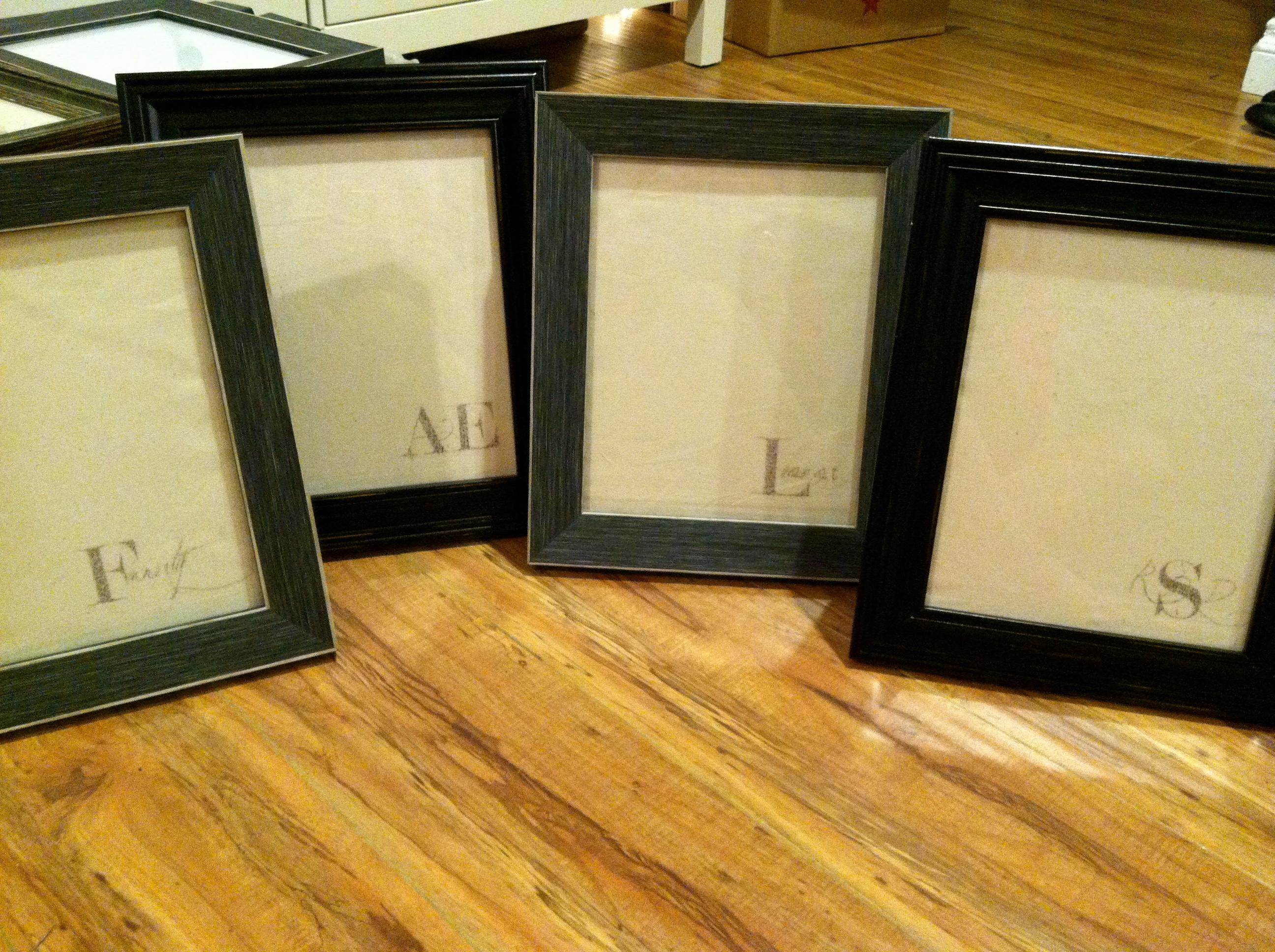 Dry-erase frames.