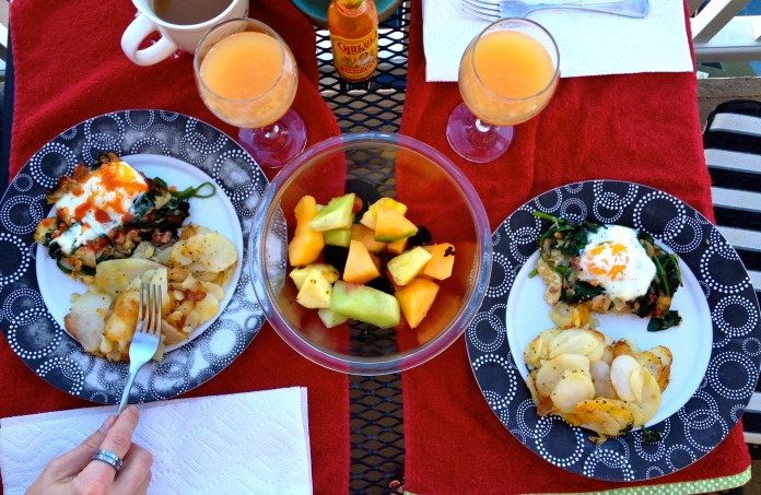 Christmas day brunch cooked by the fiance.