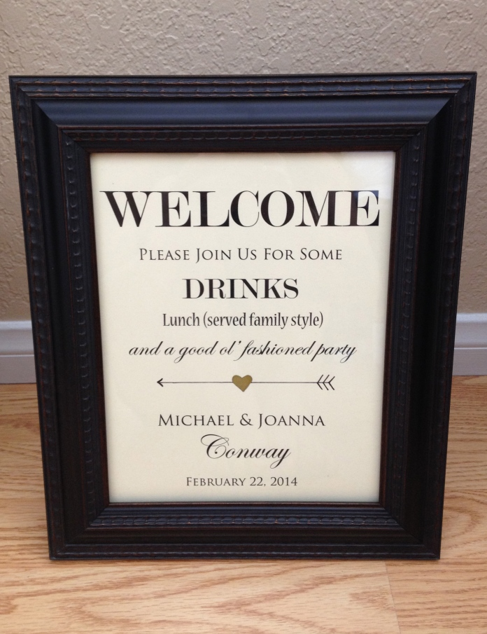 Welcome Signage placed right next to the Seating Arrangements as our guests entered the venue.