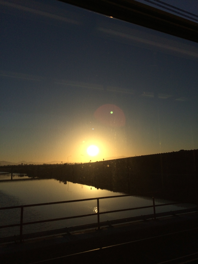 San Diego sunrise on the morning we left.