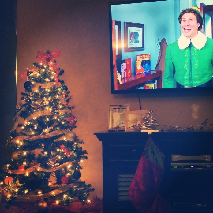 Holiday Favorites! Elf and our baby Christmas tree.